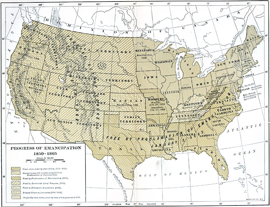 Maps America Civil War - Map of us 1861