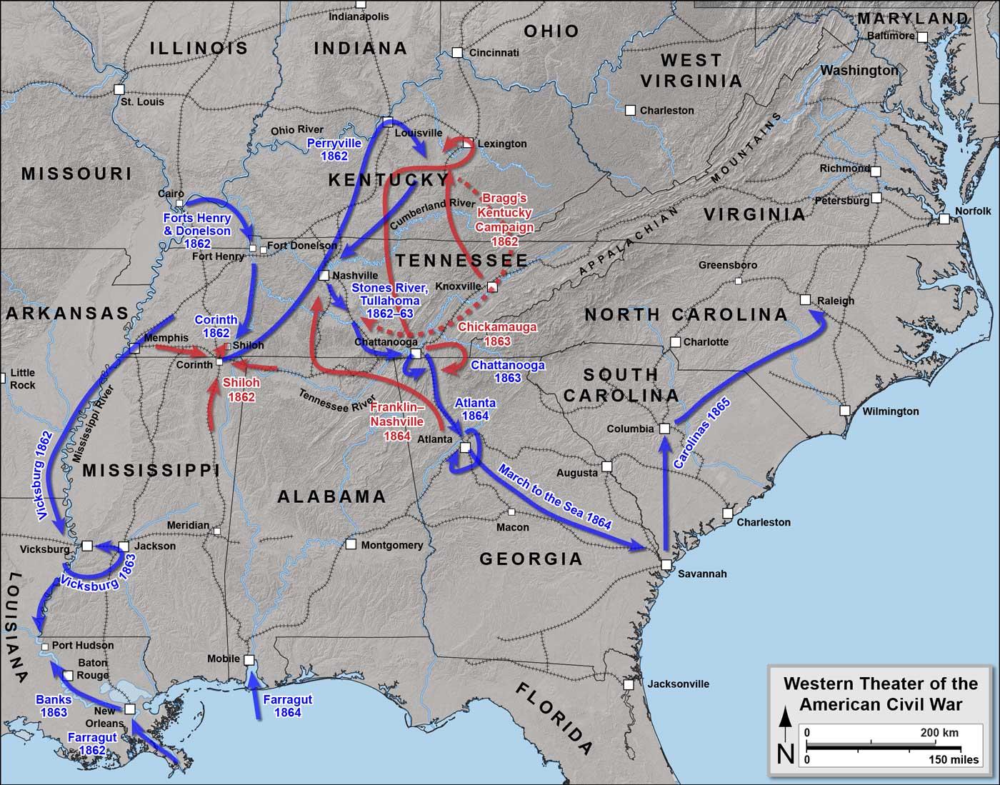 Civil war battle maps 1861 1865