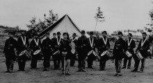 A regimental fife and drum corps