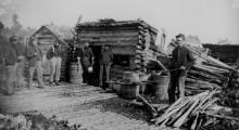 Log Hut Company Kitchen